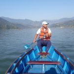Boating on Phewa Lake in Pokhara