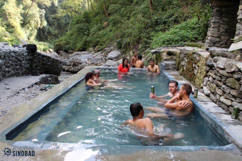 The open air natural Jacuzzi at Jhinu on the Annapurna Base Camp Trek