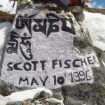 Memorial-Stone-Scott-Fischer- Everest-Base-Camp-Trek-Nepal-Adventure-Sindbad