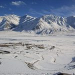 Frozen Zanskar Landscape at Karsha on the Chadar Trek in Ladakh