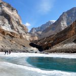 Most of the places it is just the sides that freeze on the Chadar Trek in Ladakh