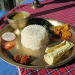Dal Bhat! Nepal's favourite food at Teahouses on the Annapurna Base Camp Trek in Nepal