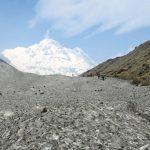 Walk on the glacier to Annapurna Base Camp