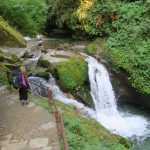 A small waterfall on the way to Ghorepani on the Annapurna trail