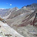 Looking into arid Lahaul from Hampta Pass(4270m) on the Deotibba Hampta Pass trek near Manali by Adventure Sindbad