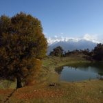 Devriyatal Lake and the Garhwal ranges