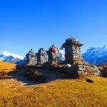 Chortens on Dzongri ridge on Khangchendzonga Round Trek in Sikkim by Adventure Sindbad