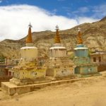 Chortens at Likir Village in Sham Valley on Ladakh-Bike,Hike,Raft trip by Adventure Sindbad