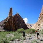 The famous rock tower of Markha Valley in Ladakh by Adventure Sindbad