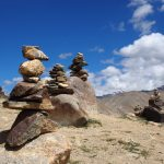 Rock Cairns on the Markha Valley Trek in Ladakh by Adventure Sindbad