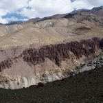 Rows of Mud Spires on the Markha Valley Trek in Ladakh by Adventure Sindbad