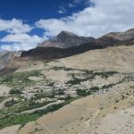 First sight of Lalung Village on Spiti Village Walks trip by Adventure Sindbad