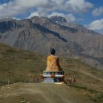 The sitting Buddha at Langza Village on Spiti Village Walks trip by Adventure Sindbad