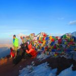 At the Summit of Stok Kangri(6153m) on Stok Kangri Climb in Ladakh by Adventure Sindbad