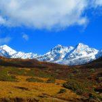 Pandim, Thinchenkhang and Jopuno as seen from Dzongri on the Yuksom - Goechala Trek in SIkkim by Adventure Sindbad