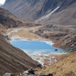 Samiti Lake above Devta Ghar on the Dzongri Goechala Trek in Sikkim by Adventure Sindbad