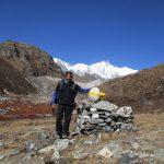 Lamunae Campsite with Khangchendzonga peak in the background on the Dzongri Goechala trek in Sikkim by Adventure Sindbad