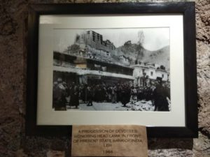 Exhibit 1 - A Procession of Devotees honoring head Lama in front of present State Bank Of India, Leh