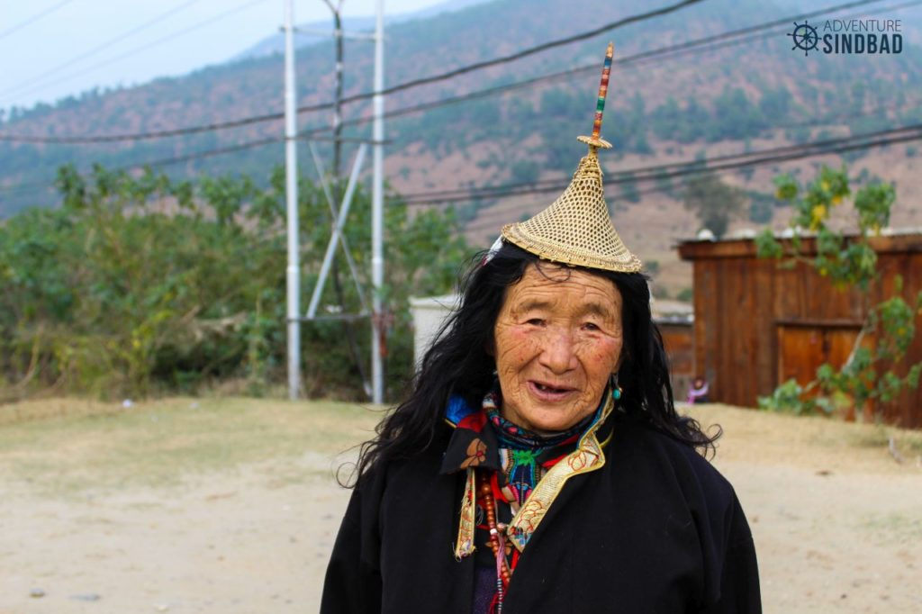 Laya-women-with-conical-hat-on-head-Bhutan-Himalaya-Adventure-Sindbad-Vishwas-Raj-28