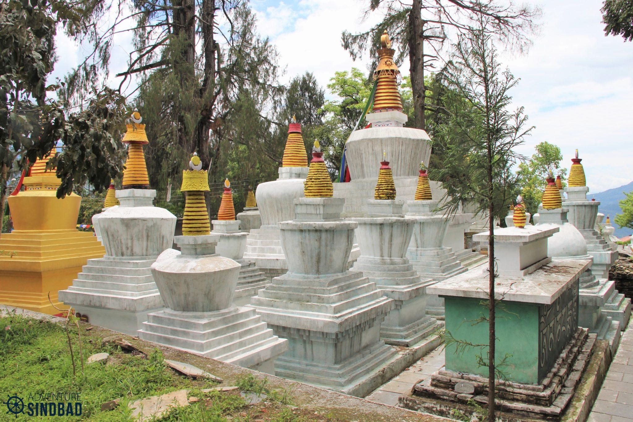 Stupas at Tashiding Monastery
