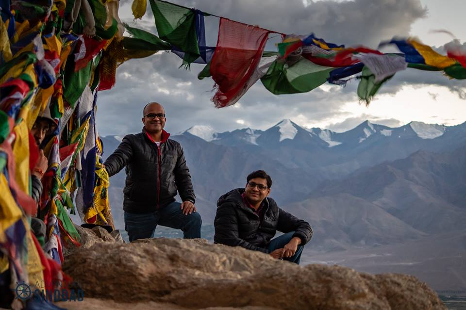 Prayer-Flags-Near-Tsemo-Castle-Leh-Adventure-Sindbad