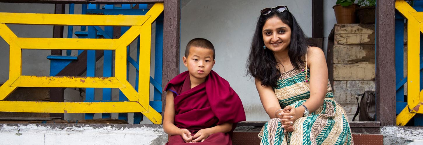 rajni-dhameja-with-sikkim-monk